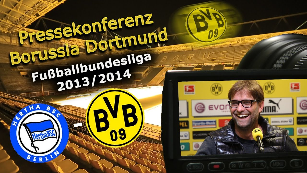 BVB Pressekonferenz vom 08. Mai 2014 vor dem letzten Bundesligaspiel Hertha BSC gegen Borussia Dortmund