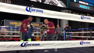 RICHARDSON HITCHINS WORKS THE PADS WITH LIL BHOP