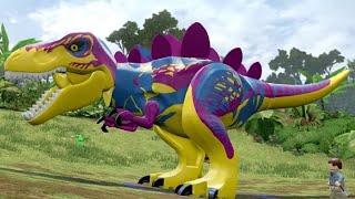 LEGO Jurassic World - Custom Dinosaurs - Free Roam Gameplay (Dino Creation)