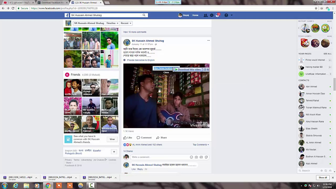 how to Download facebook videos on Pc 2018