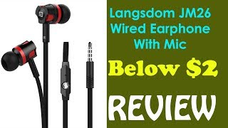 langsdom JM26 In Ear Wired Earphone with Mic - REVIEW  Som Tips