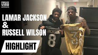 Lamar Jackson & Russell Wilson Exchange Signed Jerseys | NFL PRO BOWL 2020