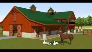 DCOOKE Horse Barn w/ 2nd Floor Living Quarters