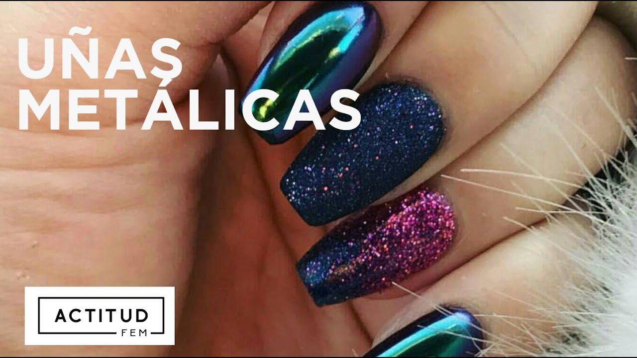 Tutorial uñas metálicas | Revlon Nail Art | ActitudFEM - YouTube