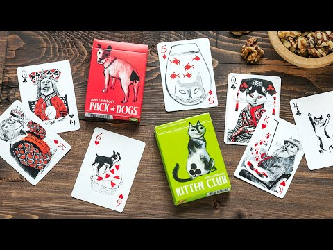 Artiphany | Illustrated Dog & Cat Playing Cards