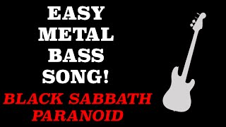 EASY Metal Bass Lesson - Black Sabbath - Paranoid