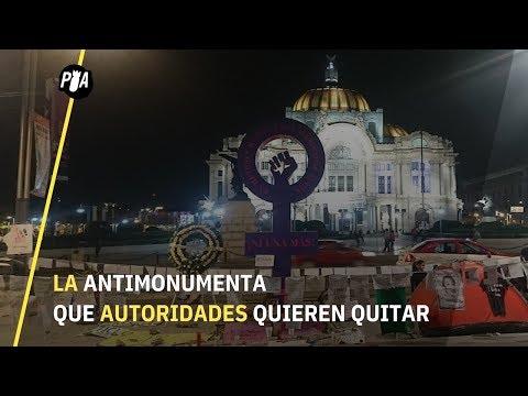 Antimonumenta en CDMX: Recordar los 9 feminicidios diarios