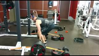 405lbs + tension band Deficit Pulls