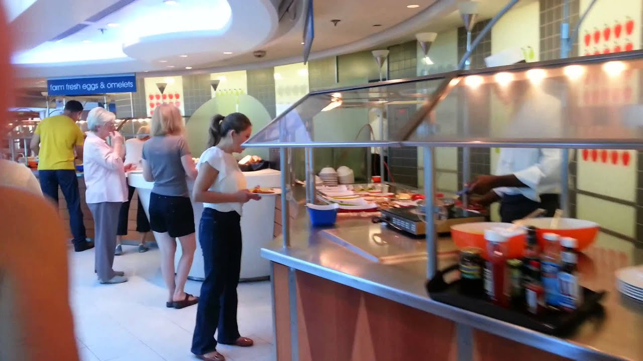 A Glimpse Of The Buffet On The Celebrity Constellation Cruise Ship