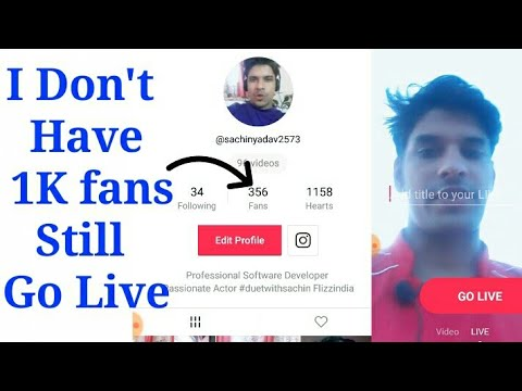 Don't Have 1000 Fans Still I Can Go Live on Tik Tok Musically | How to go  live on Tik Tok