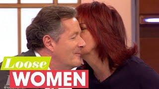 Janet Street-Porter Kisses Piers Morgan! | Loose Women