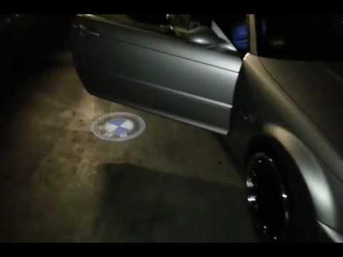 NIEUW BMW LOGO LED DEUR VERLICHTING LASER LICHT BMW E46 cabrio 330 ...