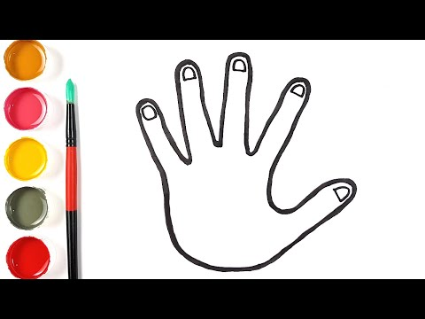 Dessin facile à la main étape par étape - comment dessiner une main