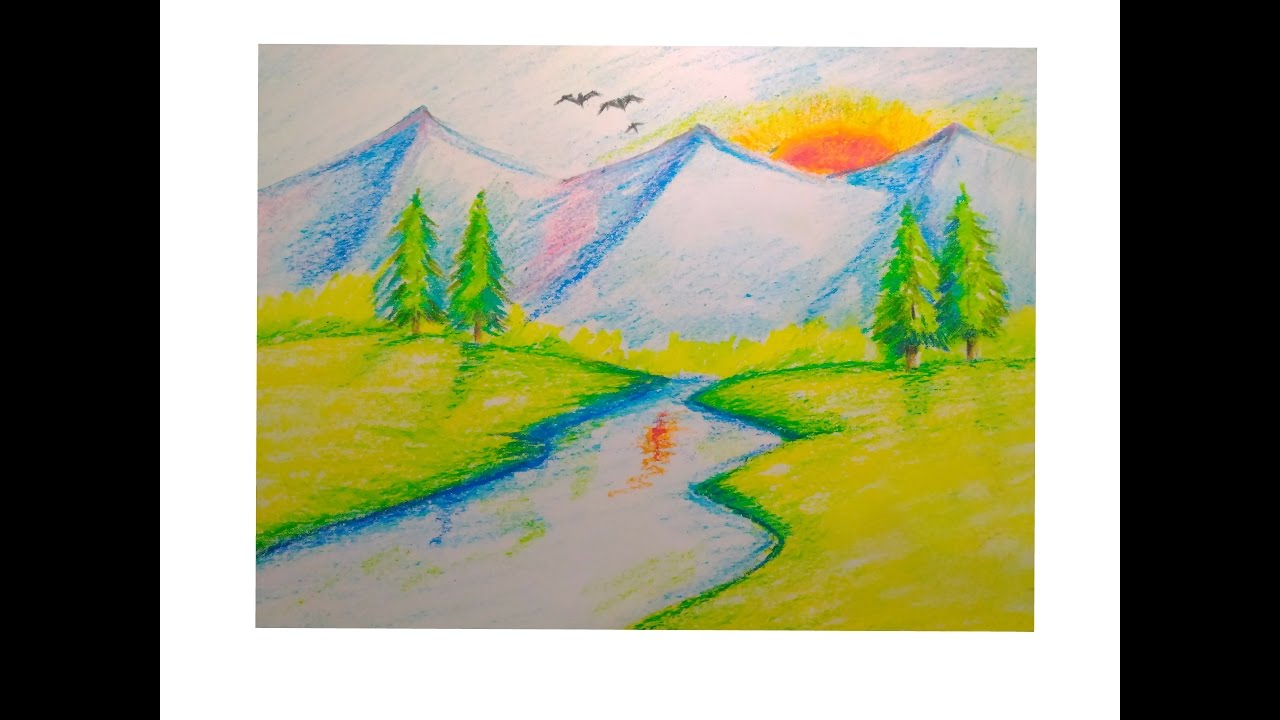 Images Of Sunset Drawing For Kids Gepezz