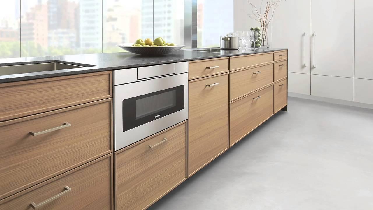 design news sharp s sleek microwave drawer