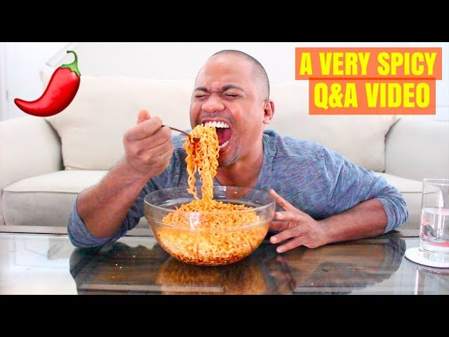 Trying To Answer Questions While Eating The HOTTEST SPICY NOODLES