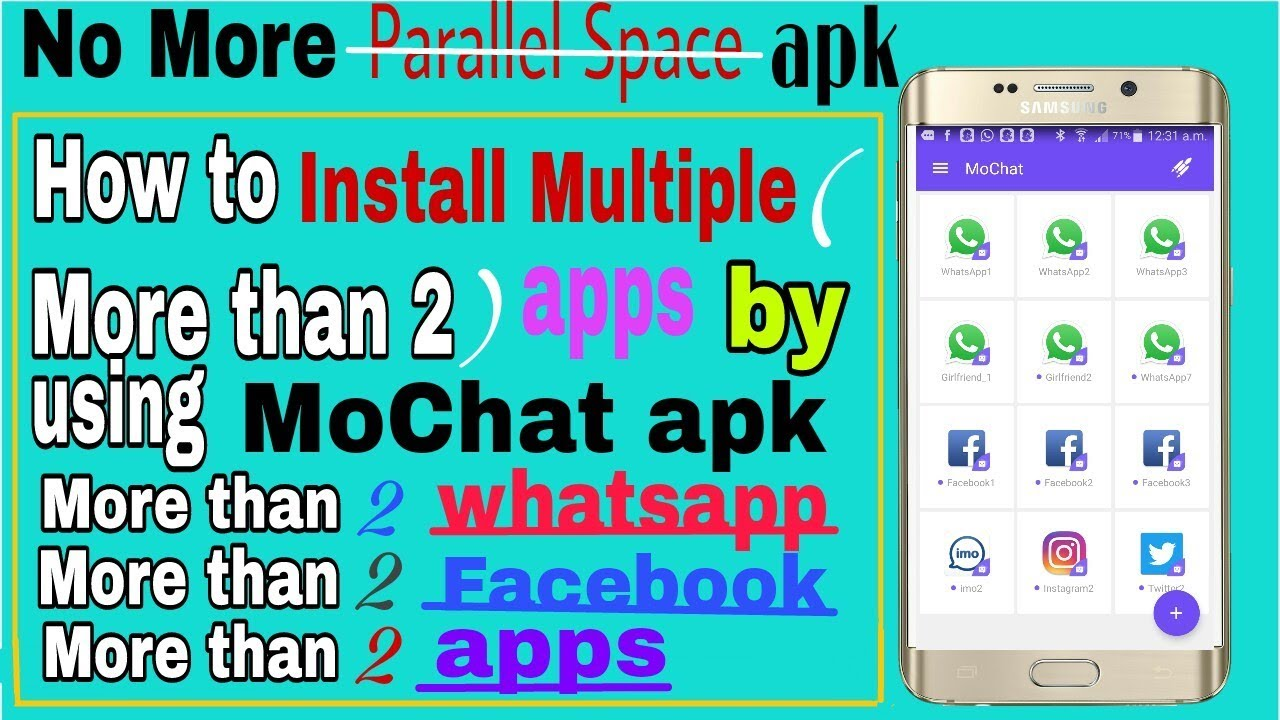 How to use MoChat App Clone Multiple Account More than _2 WhatsApp in hindi