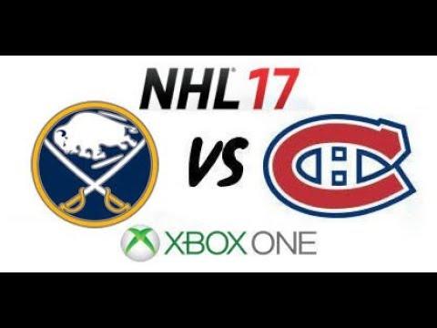 NHL 17 - Buffalo Sabres vs Montreal Canadiens - Xbox One