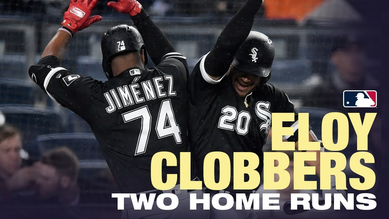 Eloy clobbers first two big-league HOMERS!