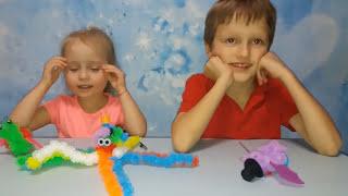 Конструктор Пушистый шарик делаем цветные животные Unpacking designer toys