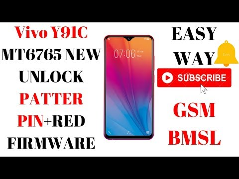 Vivo Y91C UNLOCK PATTERN PIN FRP+READ FIRMWARE EASY WAY - YouTube