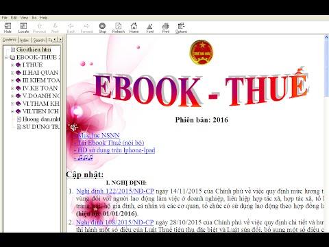 BG4: Kế toán tra cứu văn bản thuế nhanh nhất bằng ebook thuế- Hướng dẫn Cài đặt EBOOK Thuế