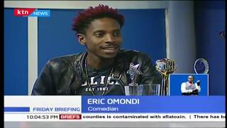 Eric Omondi as Friday Briefing's guest anchor (Part 2)