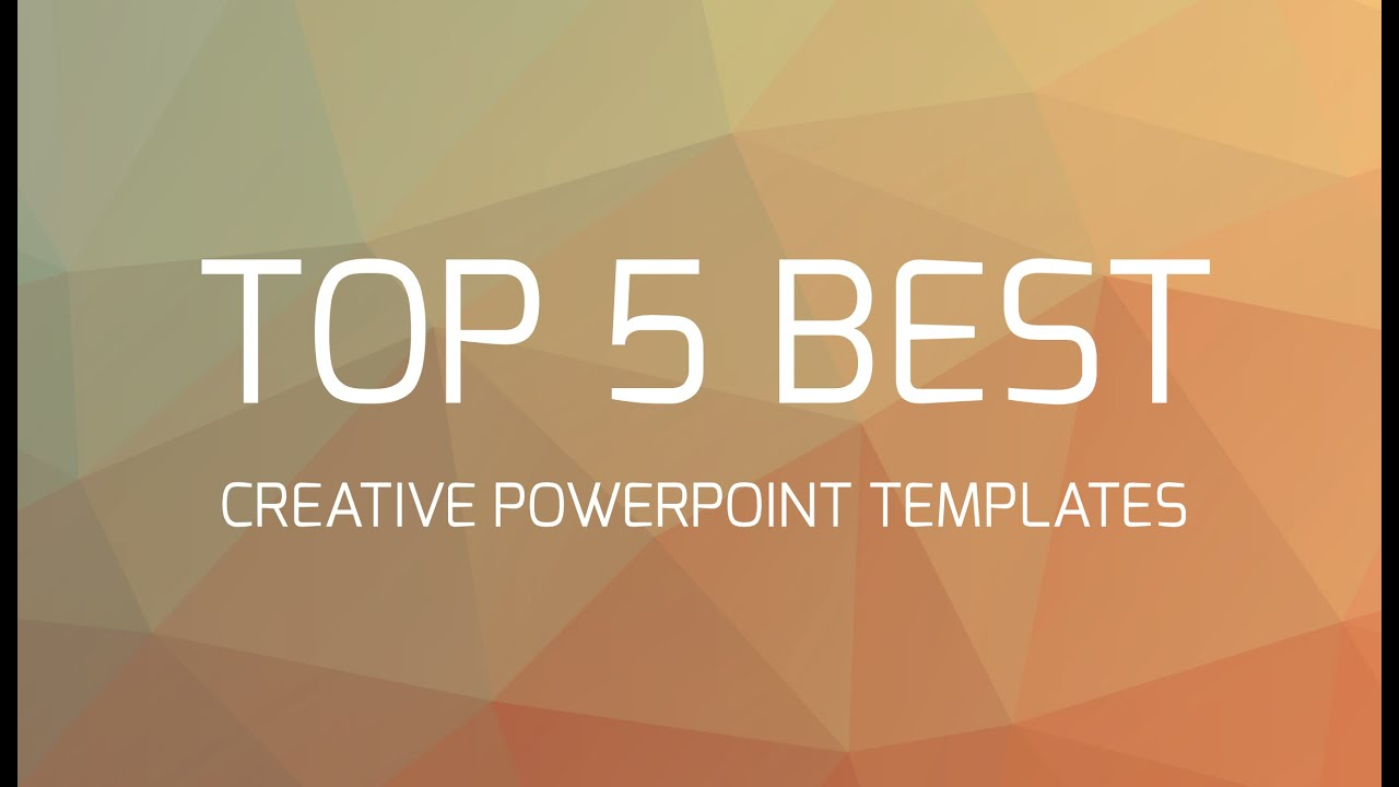 top 5 best creative powerpoint templates - youtube, Presentation templates