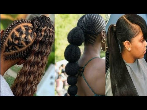 latest-packing-gel-hairstyles|-ponytail-hairstyles-for-pretty-ladies#2020