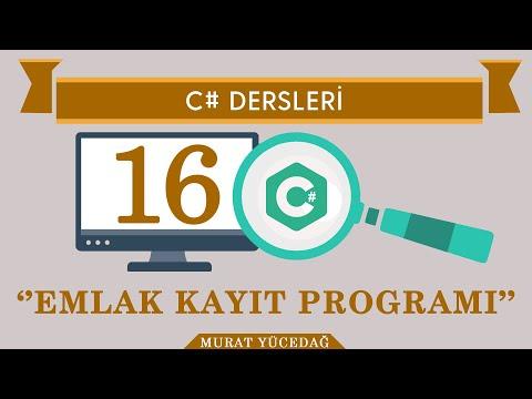 C# Ders-16 Emlak Kayıt Programı