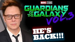 JAMES GUNN BACK!!! Will Direct Guardians Of The Galaxy 3