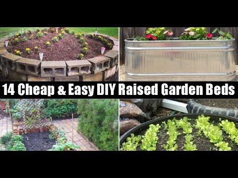 14 cheap easy diy raised garden beds youtube. Black Bedroom Furniture Sets. Home Design Ideas