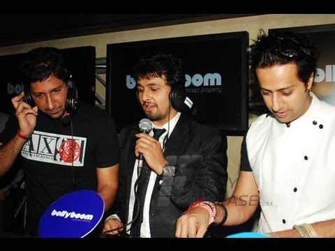 Sonu Nigam, Salim & Sulaiman Merchant launch Bollyboom @ F Bar