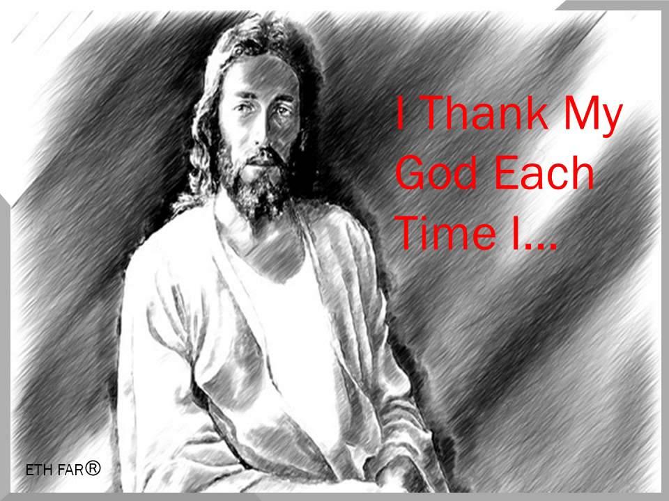 Lyric my god and i lyrics : I Thank My God Each Time - YouTube