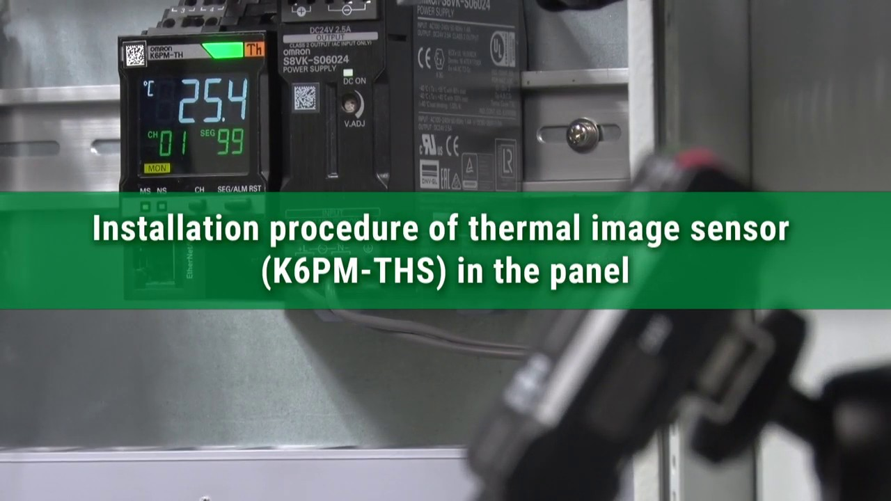 Installation procedure of thermal image sensor (K6PM-THS) in the panel