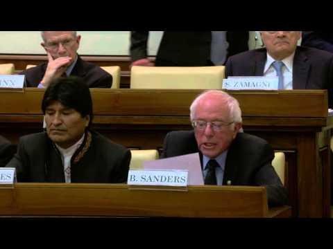 Vatican   Bernie Sanders Prepared Remarks