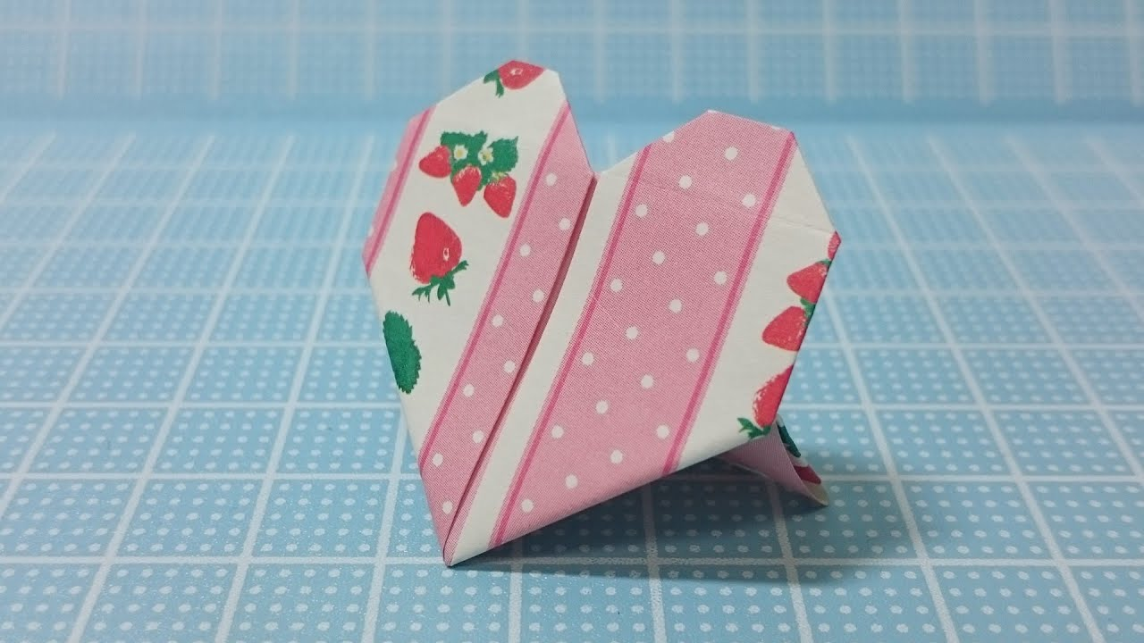 Easy Origami Heart -DIY Ideas- Strawberry Stand - YouTube - photo#48