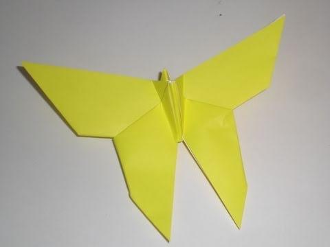 Origami Butterfly by YoshizawatutorialYouTube