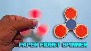 DIY Paper Fidget Spinner - How To Make an Origami Fidget Spinner Without Bearing!!