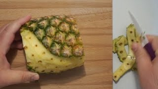 A NEW SPECIAL WAY TO PEEL A PINEAPPLE (BY CRAZY HACKER)