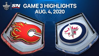 NHL Highlights | Flames vs. Jets, Game 3– Aug. 4, 2020
