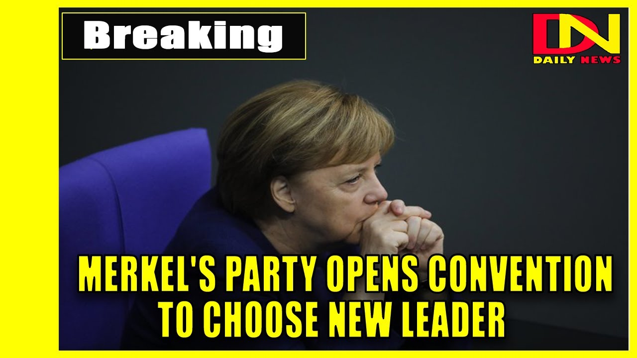 Merkel's party opens convention to choose new leader