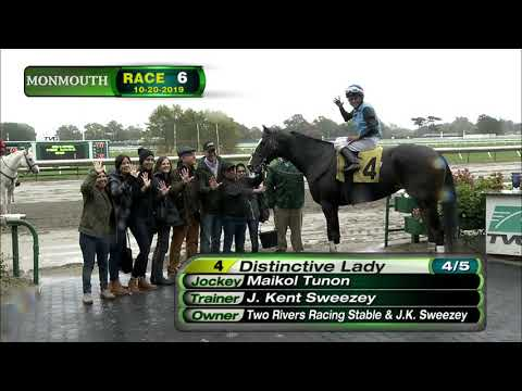 video thumbnail for MONMOUTH PARK 10-20-19 RACE 6