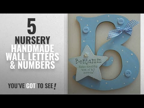 Top 10 Nursery Handmade Wall Letters & Numbers [2018]: Name Meaning Baby BOY Wooden Letter **ANY