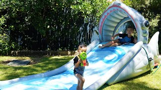 Shark Inflatable Water Slide Kids Outdoor Fun With Ckn Toys
