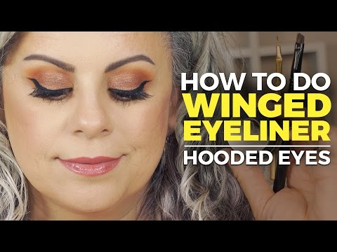 How To Do Winged Eyeliner For Hooded Eyes 👀 😻 thumbnail
