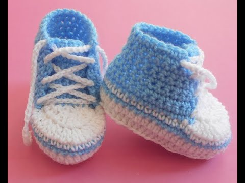 Baby Booties Converse Lace Up Shoes Easy 0 3 Youtube