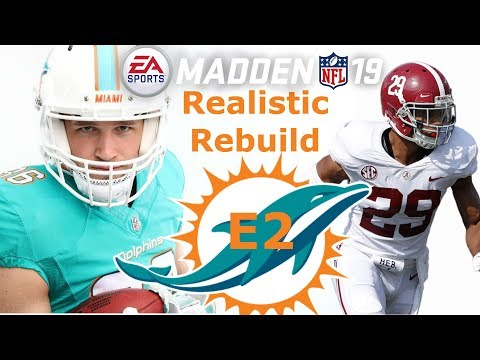 Madden 19 Miami Dolphins Rebuild Franchise E2 | Week 1 game