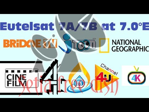 Eutelsat 7A/7B at 7 0°E channels & dish setting