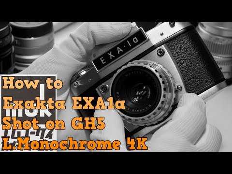 Exakta EXA1a How to use a film camera. Shot on GH5 L.Monochrome 4K